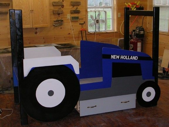New Holland Tractor Bedding : Custom kids tractor bed by larue woodworking custommade