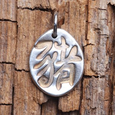 Custom Made Silver With Gold Tone Chinese Zodiac Symbol Jewelry