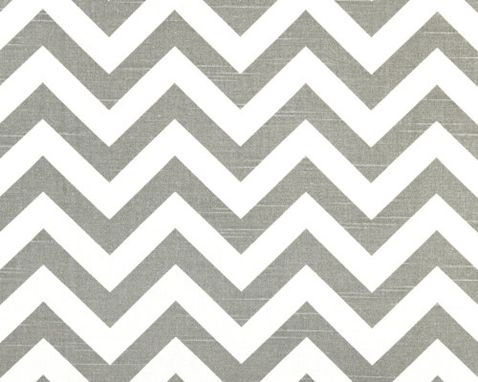 "Custom Made Wedding Table Runner 16 3/4"" Square Place Mat Ash Grey Gray Chevron Stripes Zig Zag"