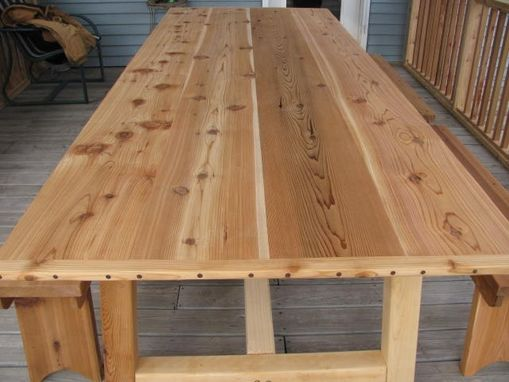 Handmade Large Outdoor Dining Table Cedar By Jeffbuildsfurniture Custommade Com