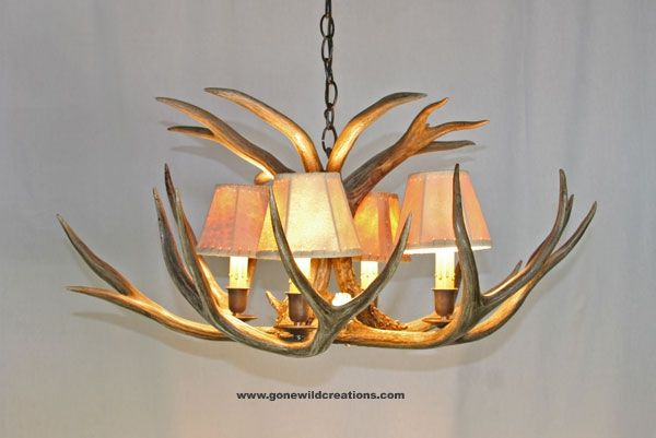 Handmade mule deer antler chandelier sierra by new hickory works custom made mule deer antler chandelier sierra aloadofball Images
