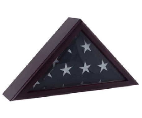 Custom Made Cadet Iii Flag Display Case For 3ft X 5ft Flag - Cherry