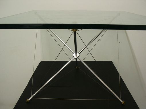 Custom Made Tension Table With Glass Top