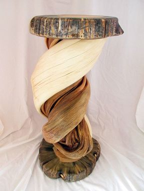 Custom Made Shoulder Mount Taxidermy Pedestal Solid Twisted Juniper Wood