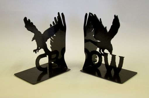 Custom Made Crow Book Ends