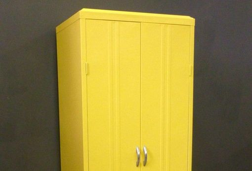 Custom Made Vintage Painted Metal Locker