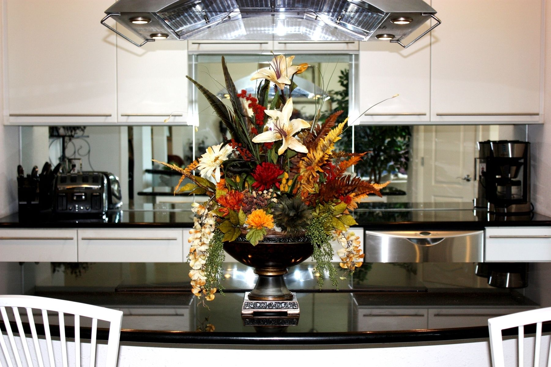 Custom Made Dining Table Centerpiece by Patique Floral