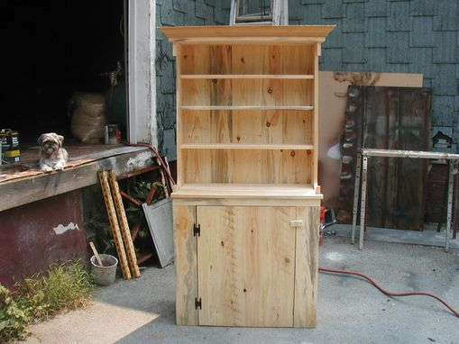 Custom Made Circa 1750 Pine Hutch 78