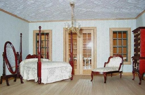 Custom Made Louisiana Bedroom Dollhouse Interior!