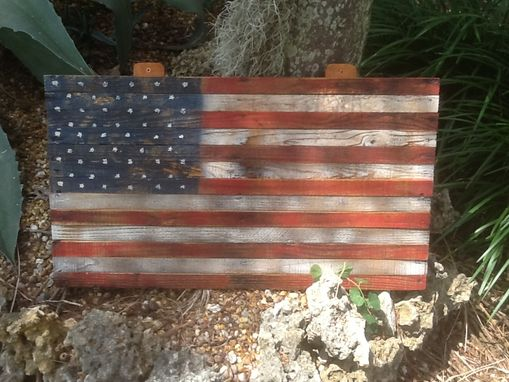 7fa4fe1fe0a7 Buy a Hand Crafted Reclaimed American Flag In Pallet Wood.