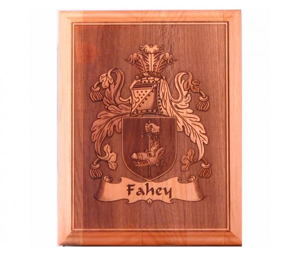 Well-liked Custom Coat Of Arms Laser Engraved 7x9 Inch Alder Plaque by Wooden  HT79