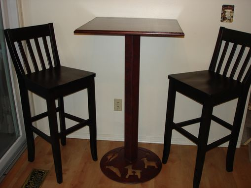 Custom Made Pub Table With Matching Stools