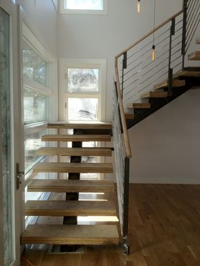 Custom Made Steel Aluminum And Wood Staircase And Balustrade