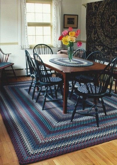 Custom Made Dining Room Braided Rug