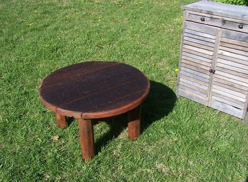 Custom Made Outdoor Rustic Coffee Table Made From Reclaimed Barnwood