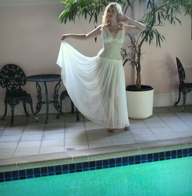 Custom Made Wedding Dress Art Deco Vintage Inspired Custom Couture Bridal Gown Silk Chiffon Lace