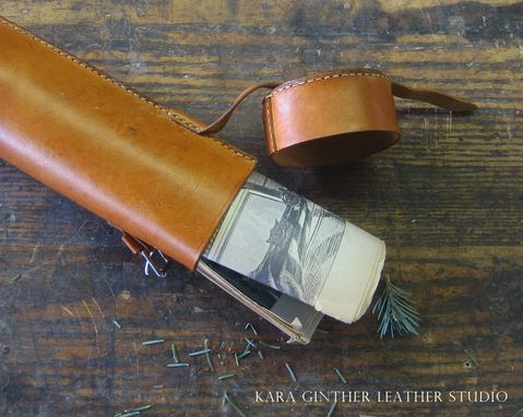 Custom Made Leather Map Roll