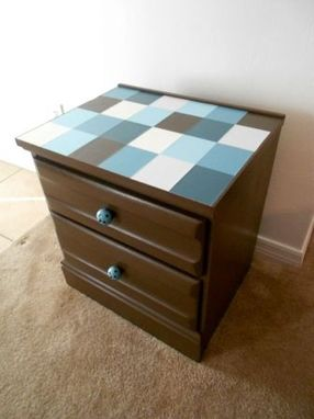Custom Made Custom Refinshed Tiled Night Stand Or End Table