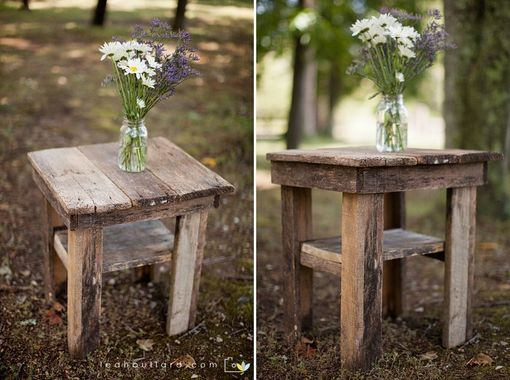 Custom Made Barnwood Bedside Table (Lynne Collection)