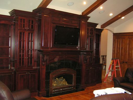 Custom Made Custom Cherry Fireplace