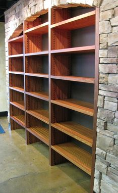 Custom Made Custom Built-In Wine Shelving For Balaban's Wine & Tapas Bar In Chesterfield, Mo