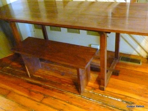 Custom Made Elegant Walnut Desk Dining Table Mid Century Modern Contemporary Design Custom Order