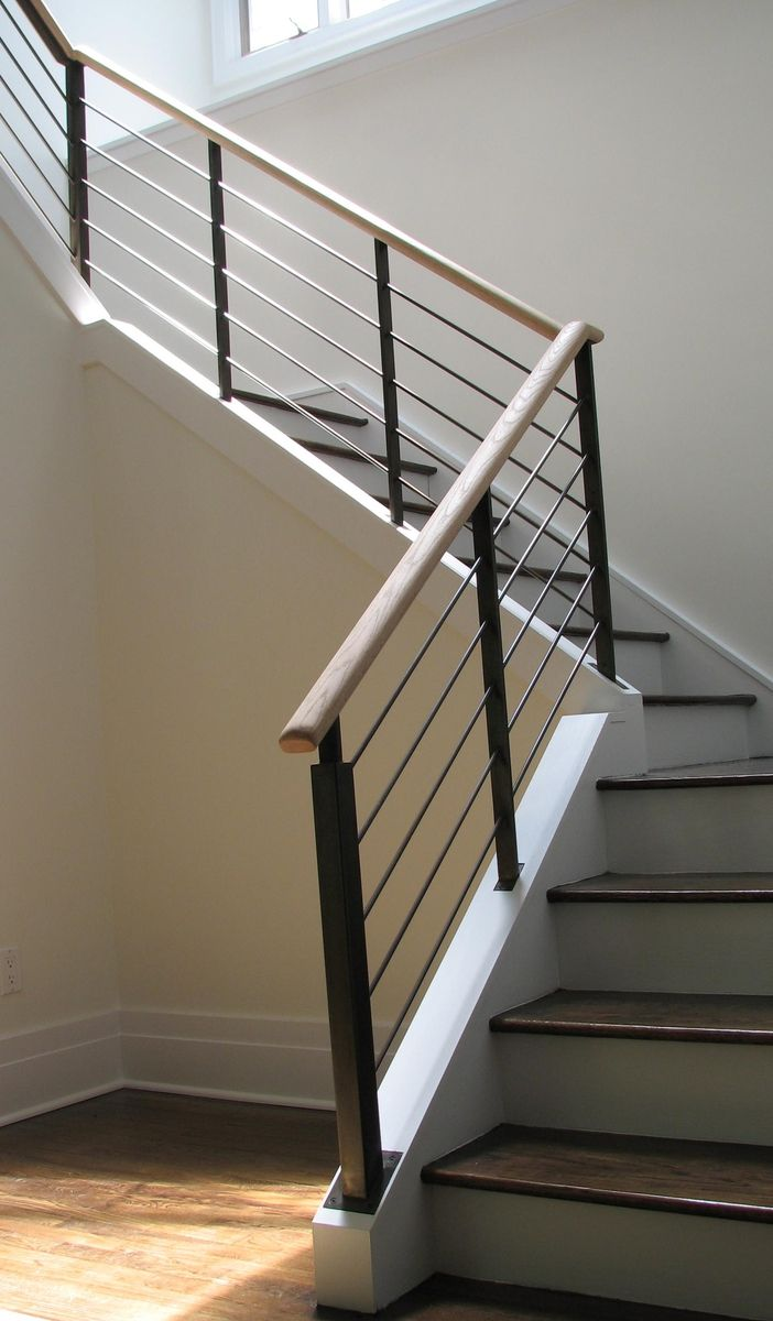Hand crafted goldman stair railing by eric david laxman for Custom stair