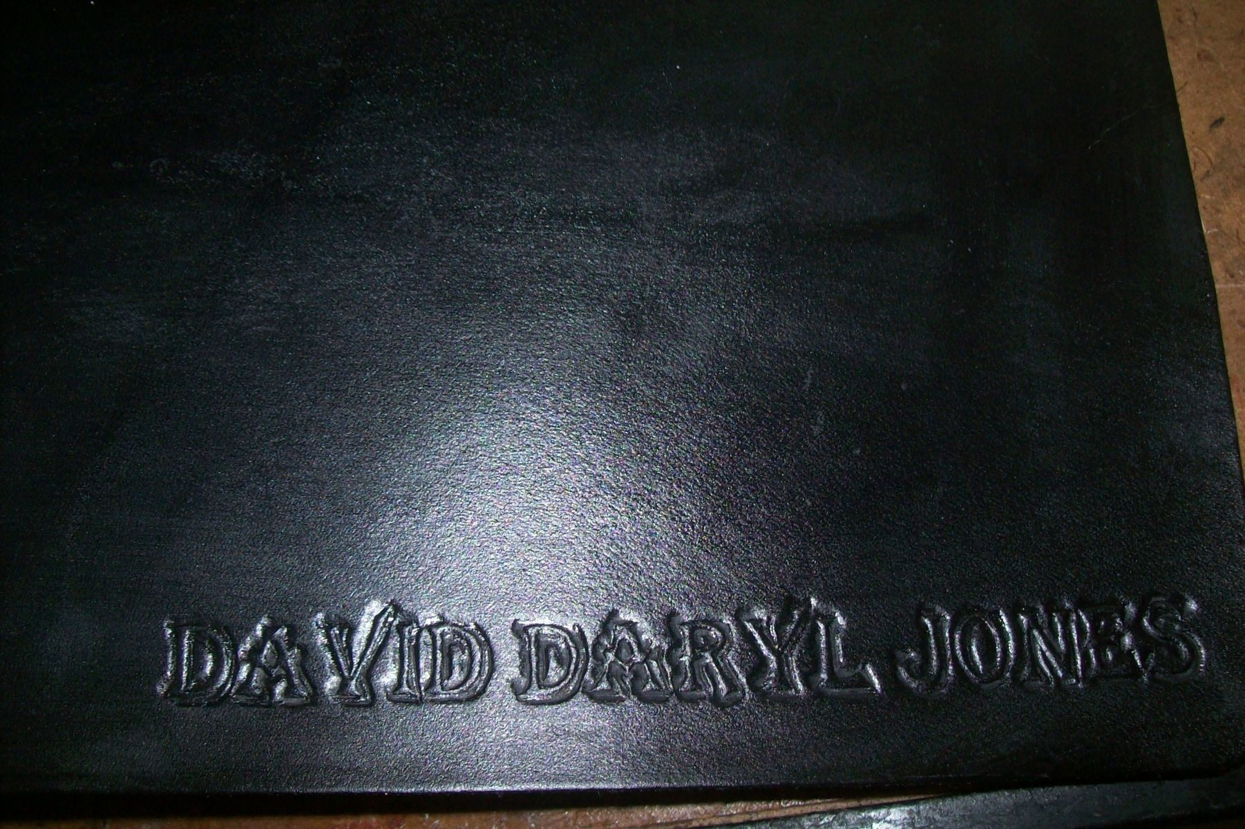 Custom Made Leather Business Checkbook Cover