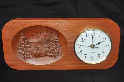 Custom Made Carved Cabin Clock