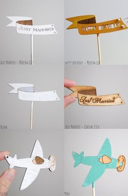 Custom Made Plane Cake Topper