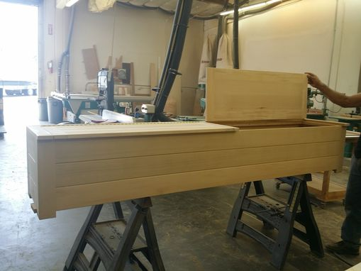 Custom Made Storage Bench For Exterior (Made In Cedar)