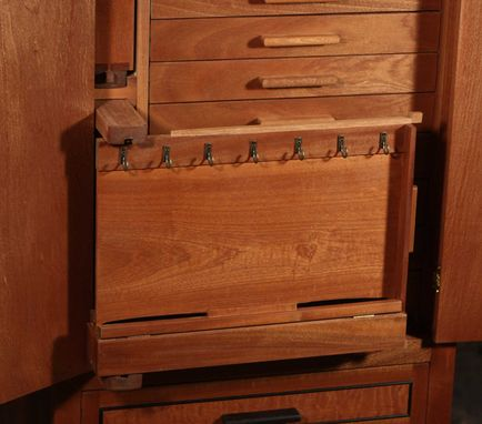 Custom Made Standing Jewelry And Lingerie Cabinet