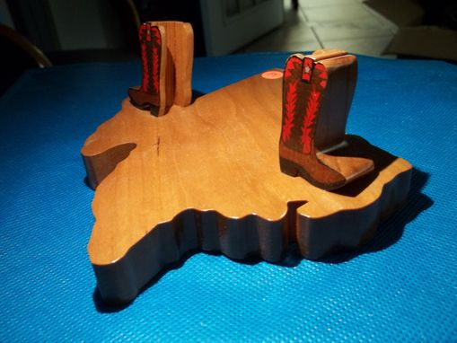 Custom Made Business Card Holder, Texas Boots