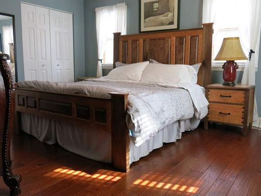 Custom Made Custom Craftstman Style Bespoke Solid Wood Bedroom Set