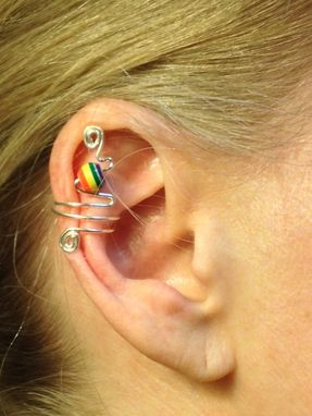 Custom Made Small Ear Cuffs With Matching Earrings