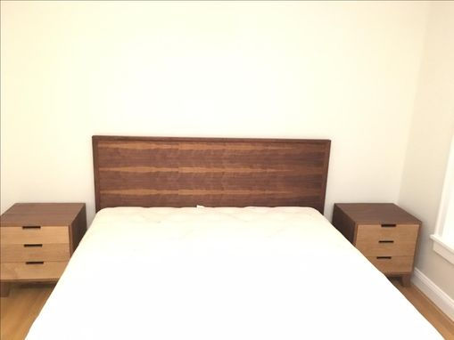 Custom Made King Sized Bed And Matching Nightstands