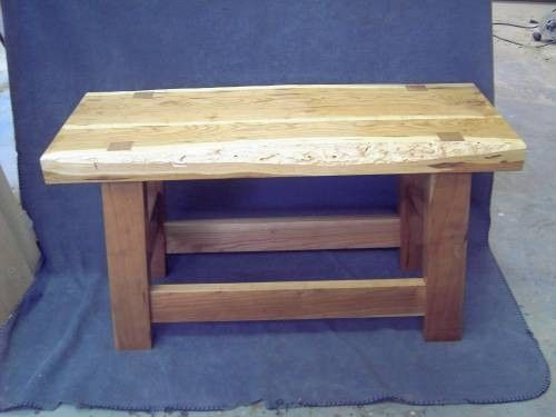 Custom Made Wood Bench