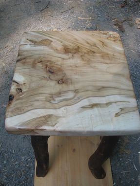 Custom Made Ambrosia Silver Maple End Table