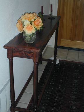 Custom Made Cocobolo Entry Table