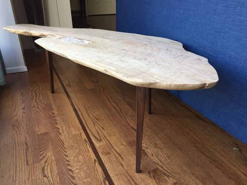 Custom Made Modern Live Edge Coffee Table (Spalted Maple) - Seattle