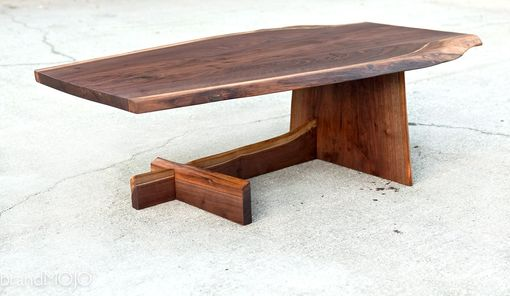 Custom Made Live Edge Cantilever Coffee Table