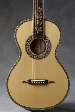 "Custom Made Baroque ""Yellow Rose"" Parlor Guitar"