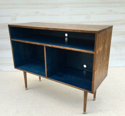 Custom Made The Small Duke Record Cabinet With Vinyl Storage / Tv Stand