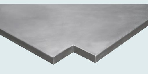 Custom Made Zinc Countertop With Sink Opening & Notch Corners