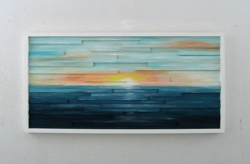Custom Made Abstract Lanscape Painting - Wood Wall Art