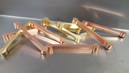 Custom Made Dog Bone Brass, Copper, Stainless Inlays
