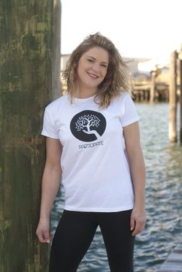 Custom Made Participate Graphic Tee For Women In 100% Organic White Cotton