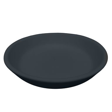 "Custom Made Matte Porcelain Usa Made 7"" Salad Plate- Black"