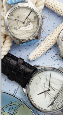 Custom Made Scrimshaw Watches