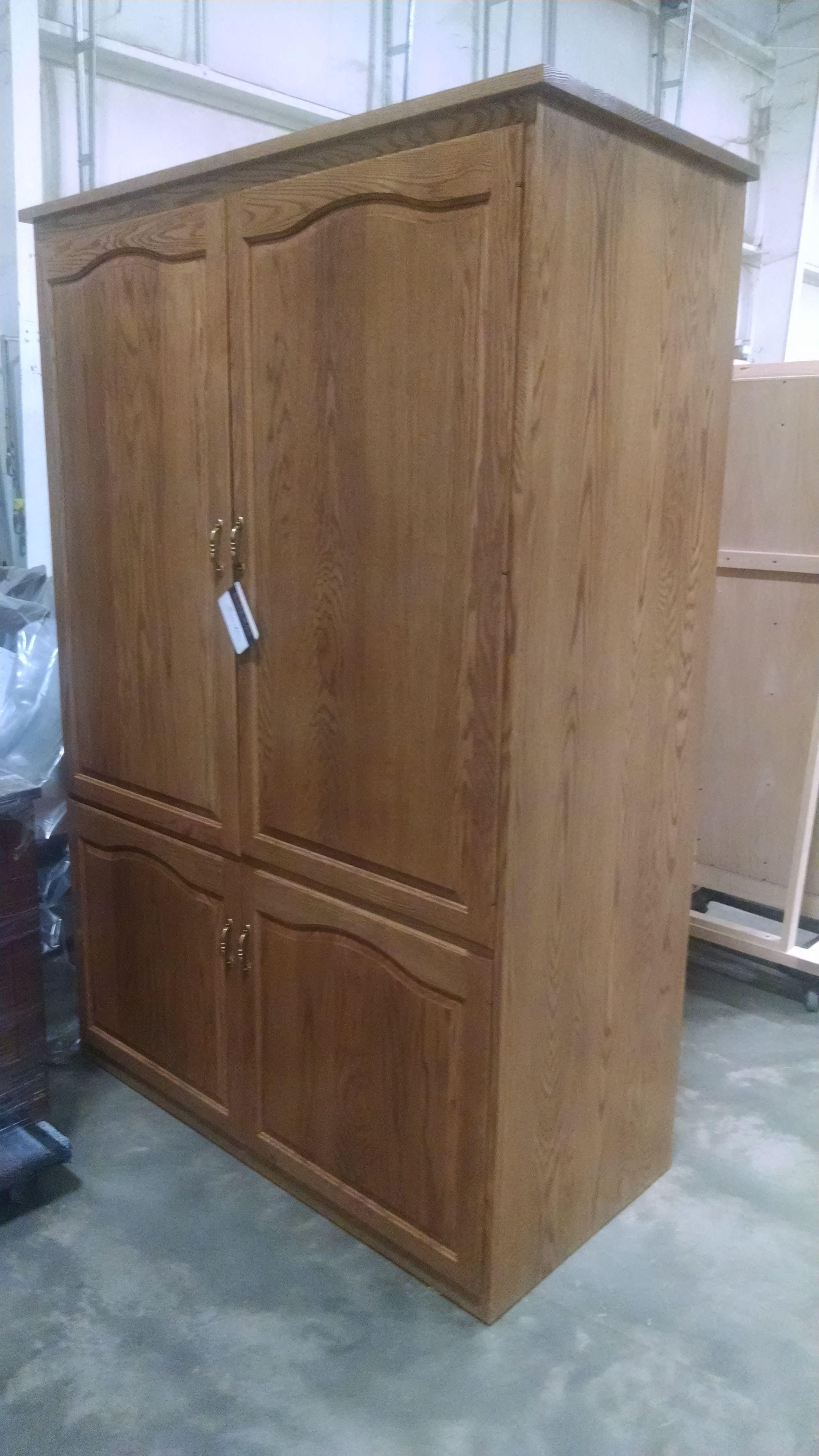 Handmade Custom Pantry Cabinet In White Oak By Walnut